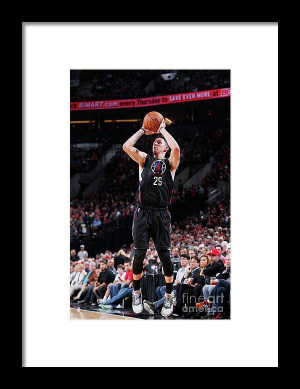 Nba Pro Basketball Framed Print featuring the photograph Austin Rivers by Sam Forencich