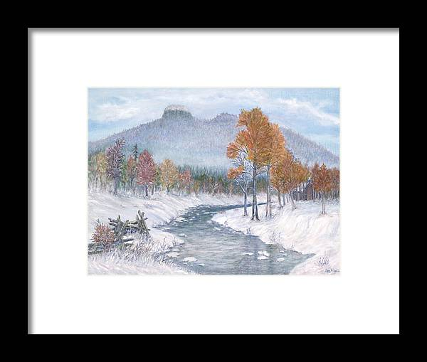Snow Framed Print featuring the painting Autumn Snow by Ben Kiger