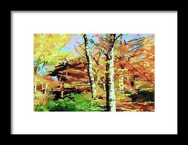 Autumn Framed Print featuring the painting Autumn's Spectacular Display by John Lautermilch