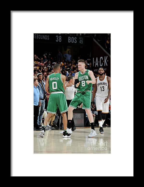 Playoffs Framed Print featuring the photograph Avery Bradley and Jonas Jerebko by David Liam Kyle