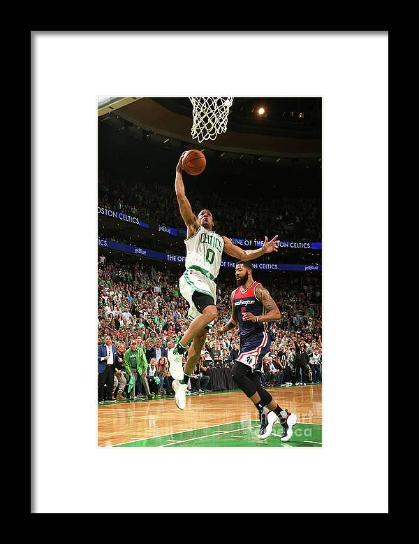 Playoffs Framed Print featuring the photograph Avery Bradley by Ned Dishman