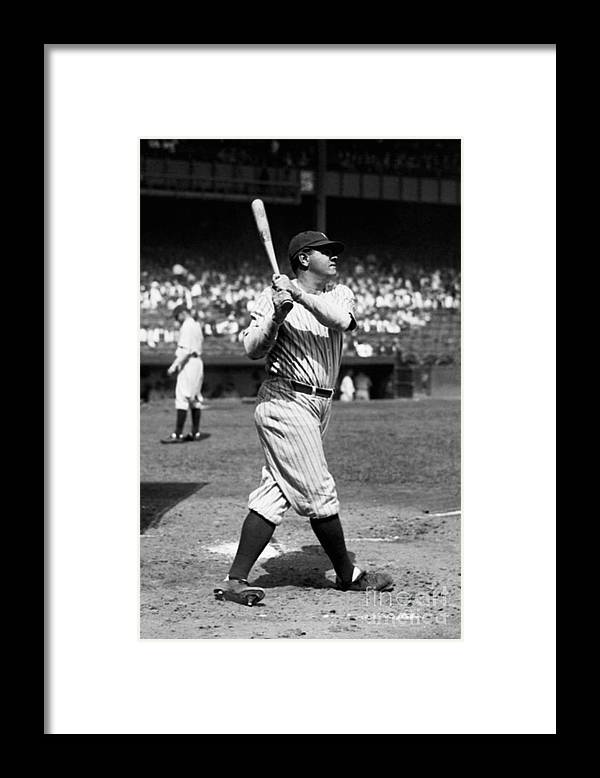 American League Baseball Framed Print featuring the photograph Babe Ruth by Kidwiler Collection