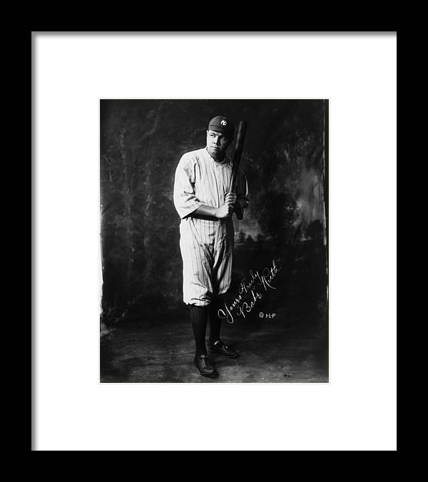 People Framed Print featuring the photograph Babe Ruth by Mpi