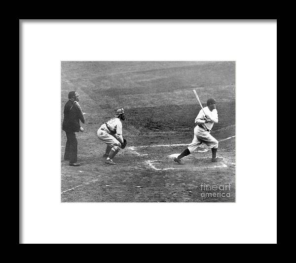 American League Baseball Framed Print featuring the photograph Babe Ruth by National Baseball Hall Of Fame Library