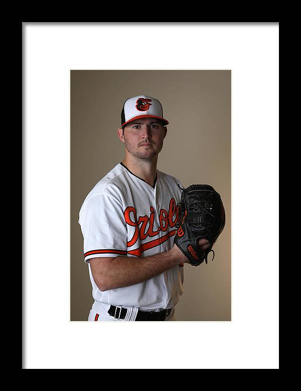 People Framed Print featuring the photograph Baltimore Orioles Photo Day by Rob Carr