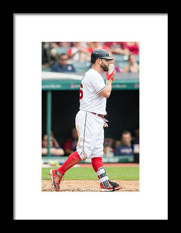 People Framed Print featuring the photograph Baltimore Orioles V Cleveland Indians by Jason Miller