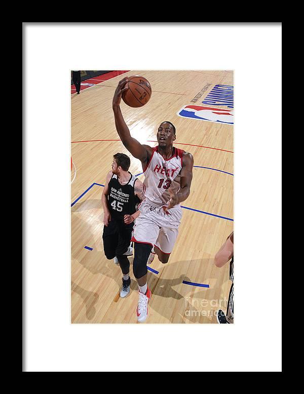 Nba Pro Basketball Framed Print featuring the photograph Bam Adebayo by David Dow