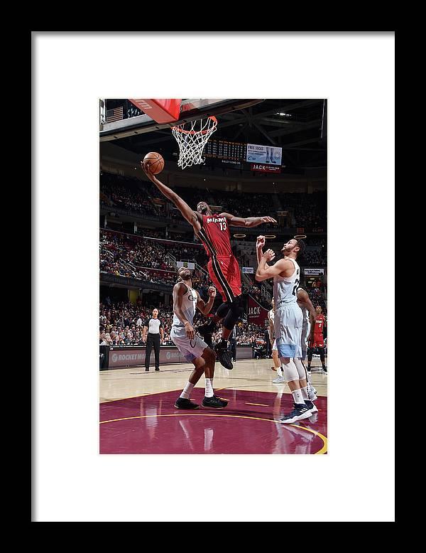Nba Pro Basketball Framed Print featuring the photograph Bam Adebayo by David Liam Kyle