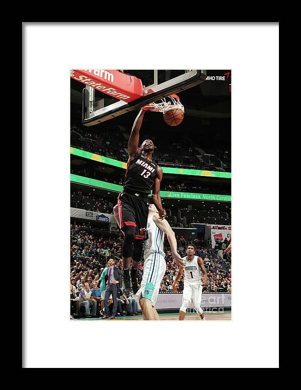 Nba Pro Basketball Framed Print featuring the photograph Bam Adebayo by Kent Smith