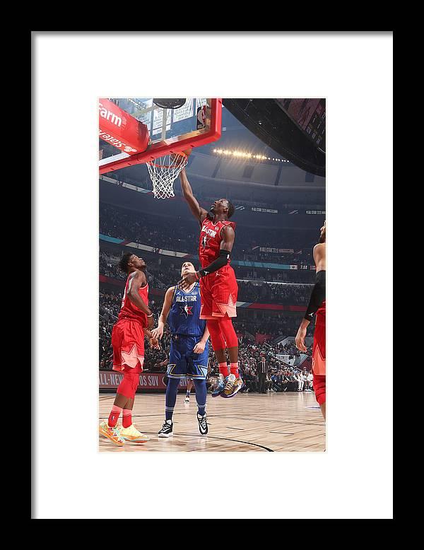 Nba Pro Basketball Framed Print featuring the photograph Bam Adebayo by Nathaniel S. Butler