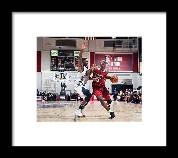 Nba Pro Basketball Framed Print featuring the photograph Bam Adebayo by Noah Graham