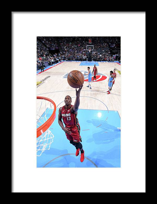 Nba Pro Basketball Framed Print featuring the photograph Bam Adebayo by Rocky Widner