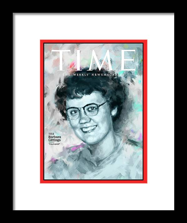 Time Framed Print featuring the photograph Barbara Gittings, 1964 by Illustration by Ivana Besevic