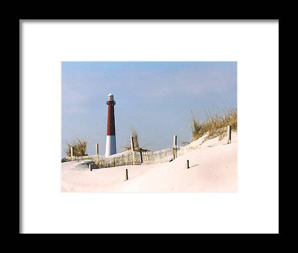 Barnegat Framed Print featuring the photograph Barnegat Lighthouse by Steve Karol