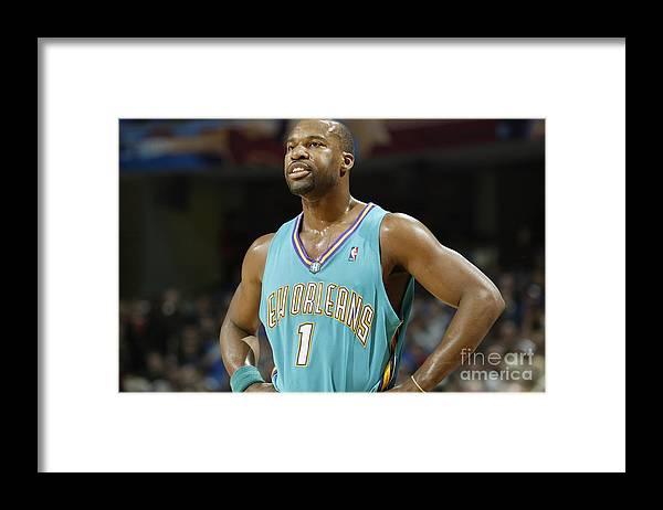 Nba Pro Basketball Framed Print featuring the photograph Baron Davis by Gregory Shamus