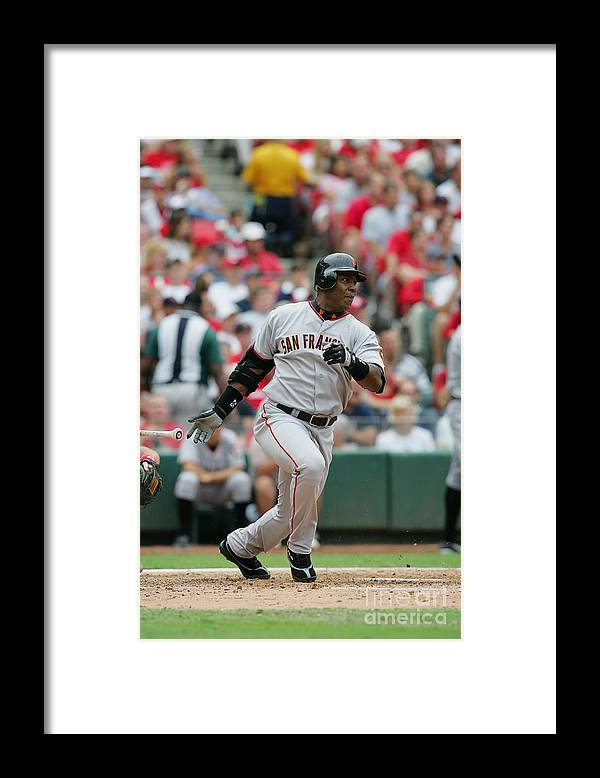 Sports Bat Framed Print featuring the photograph Barry Bonds by Dilip Vishwanat