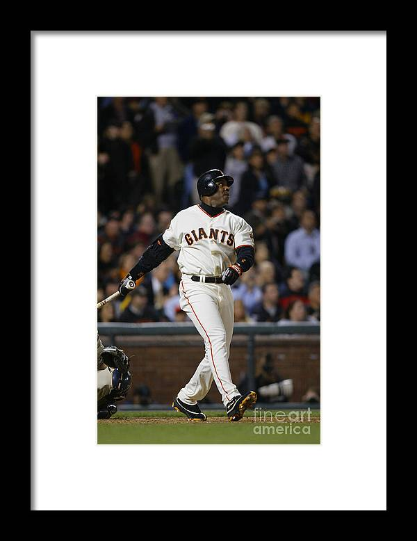 San Francisco Framed Print featuring the photograph Barry Bonds by Don Smith