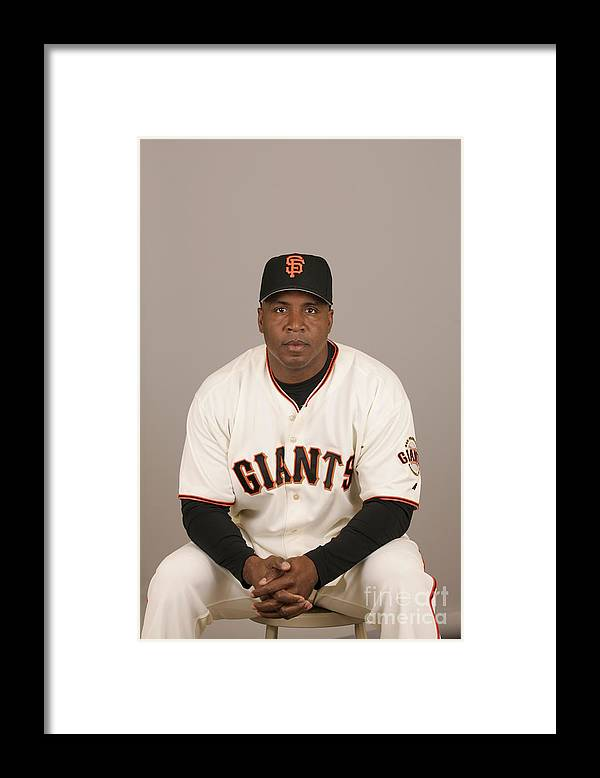 Media Day Framed Print featuring the photograph Barry Bonds by Jason Wise