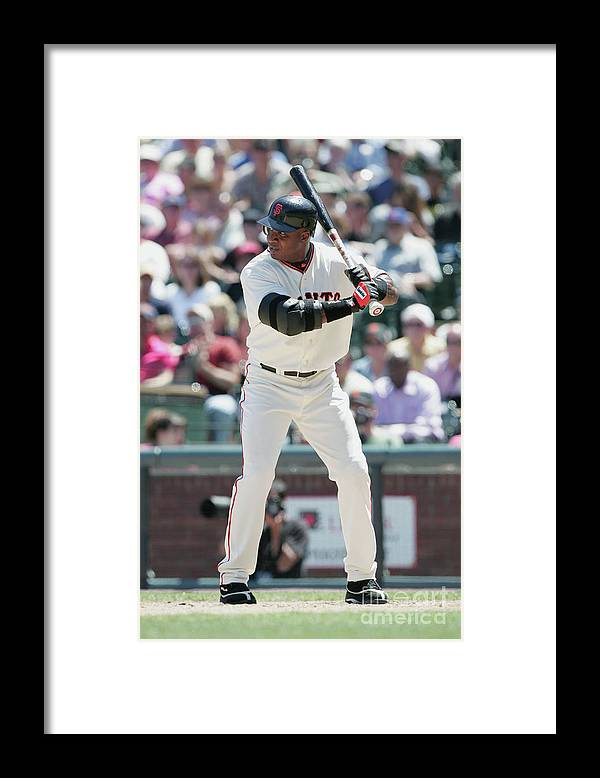 San Francisco Framed Print featuring the photograph Barry Bonds by Jed Jacobsohn