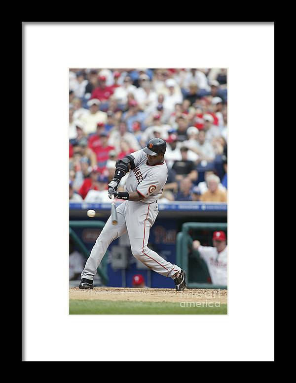 Motion Framed Print featuring the photograph Barry Bonds by Rob Leiter