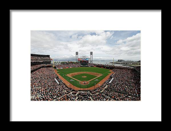 San Francisco Framed Print featuring the photograph Barry Zito and Jon Jay by Ezra Shaw