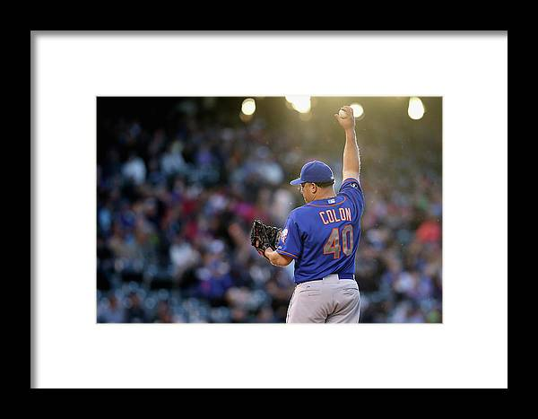 Defeat Framed Print featuring the photograph Bartolo Colon by Doug Pensinger