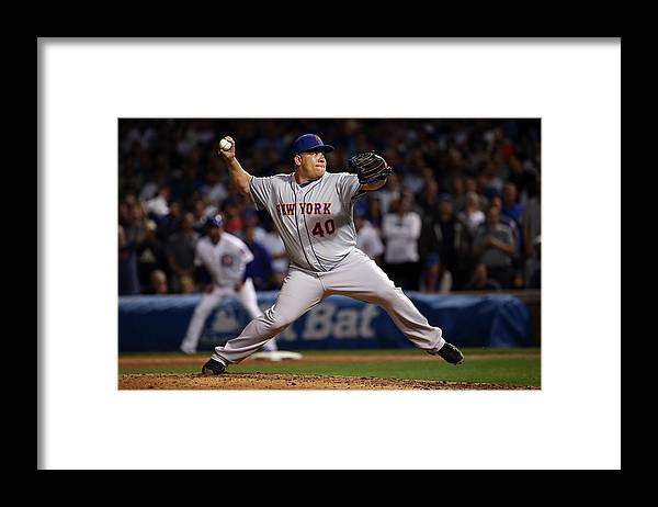 People Framed Print featuring the photograph Bartolo Colon by Jonathan Daniel