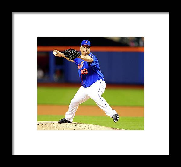 People Framed Print featuring the photograph Bartolo Colon by Rich Schultz