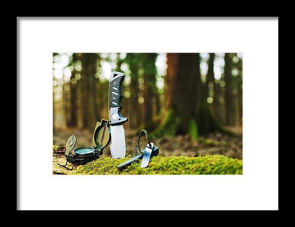 Camping Framed Print featuring the photograph Basic Survival Tools by Gaspr13