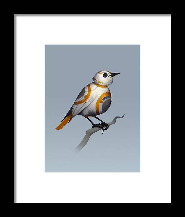 Birds Framed Print featuring the digital art BB Bird by Michael Myers