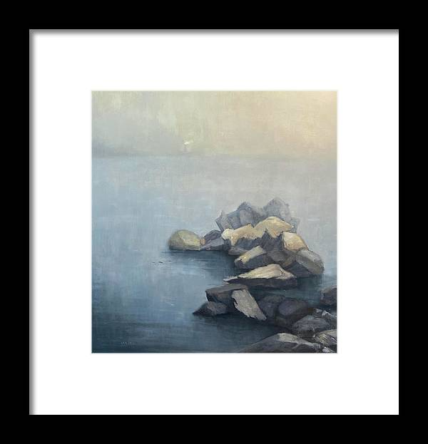 Framed Print featuring the painting Beacon by Mary Jo Van Dell