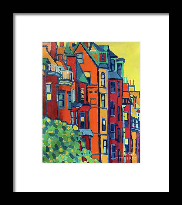 Architecture Framed Print featuring the painting Beacon Street Back Bay Boston by Debra Bretton Robinson