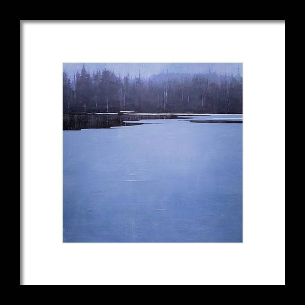 Framed Print featuring the painting Bearskin Lake by Mary Jo Van Dell