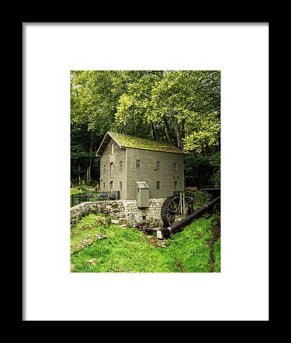 Grist Mill Framed Print featuring the photograph Beck's Mill - Salem, Indiana by Scott Smith