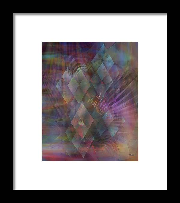 Bedazzled Framed Print featuring the digital art Bedazzled by John Robert Beck
