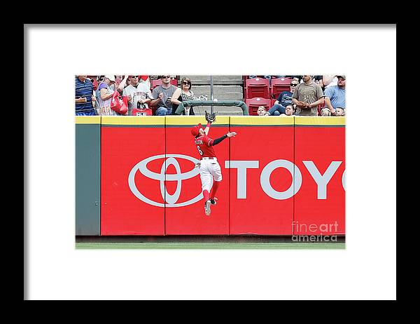 Great American Ball Park Framed Print featuring the photograph Ben Revere and Billy Hamilton by Kirk Irwin