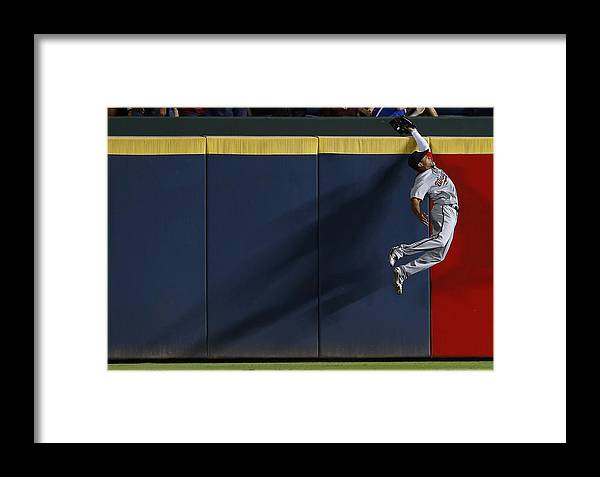 Atlanta Framed Print featuring the photograph Ben Revere And Freddie Freeman by Mike Zarrilli
