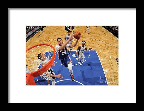 Nba Pro Basketball Framed Print featuring the photograph Ben Simmons by Fernando Medina
