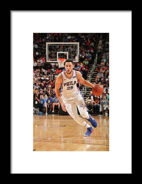 Nba Pro Basketball Framed Print featuring the photograph Ben Simmons by Issac Baldizon