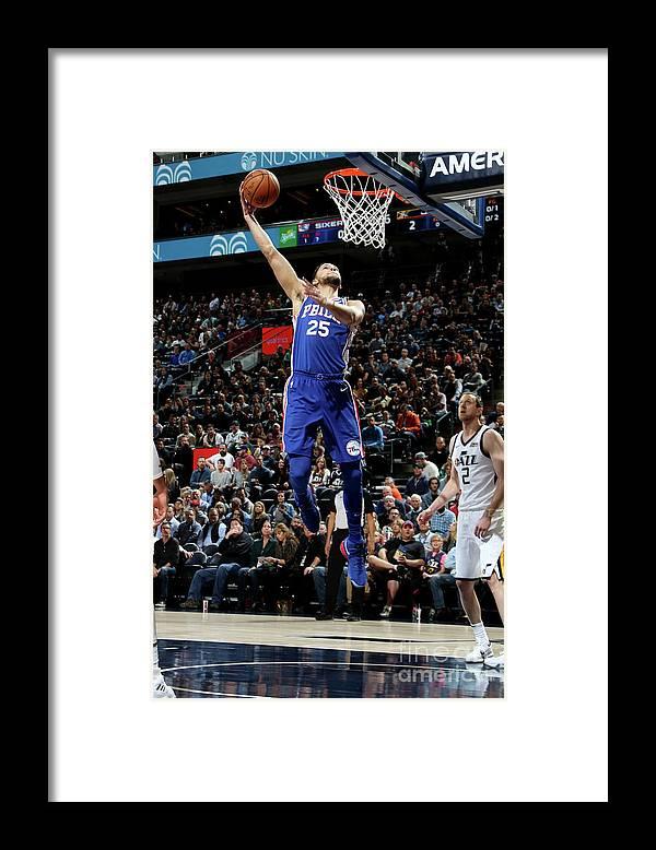 Nba Pro Basketball Framed Print featuring the photograph Ben Simmons by Melissa Majchrzak