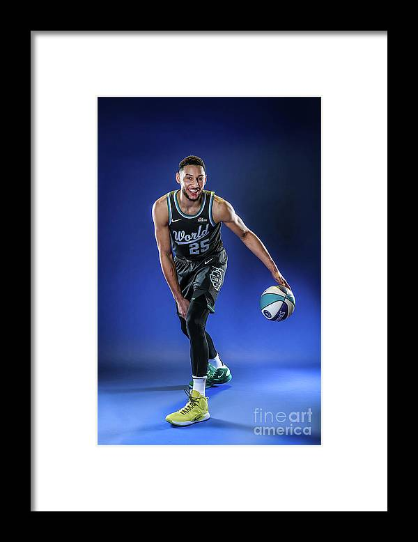 Nba Pro Basketball Framed Print featuring the photograph Ben Simmons by Michael J. Lebrecht Ii