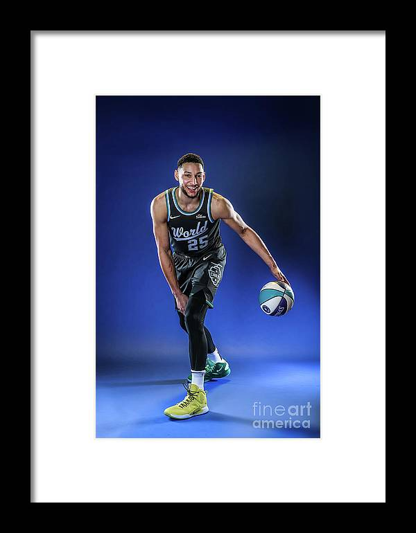 Nba Pro Basketball Framed Print featuring the photograph Ben Simmons by Michael J. Lebrecht Ii