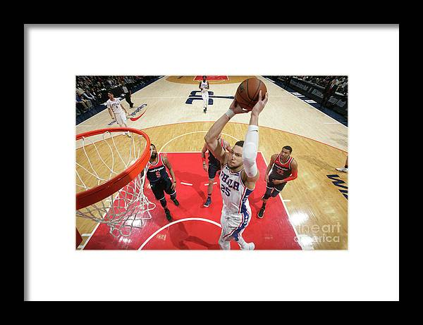 Nba Pro Basketball Framed Print featuring the photograph Ben Simmons by Ned Dishman