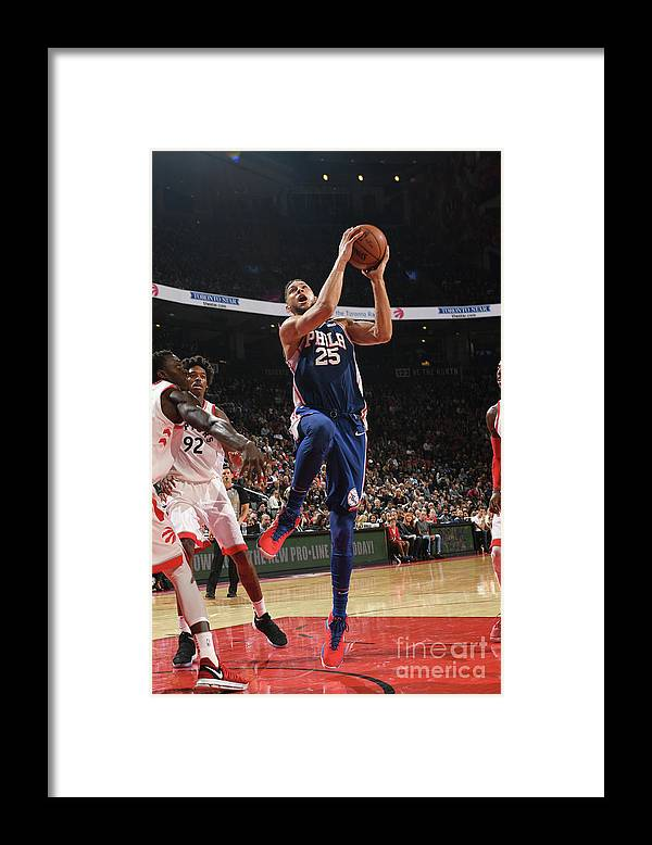 Nba Pro Basketball Framed Print featuring the photograph Ben Simmons by Ron Turenne