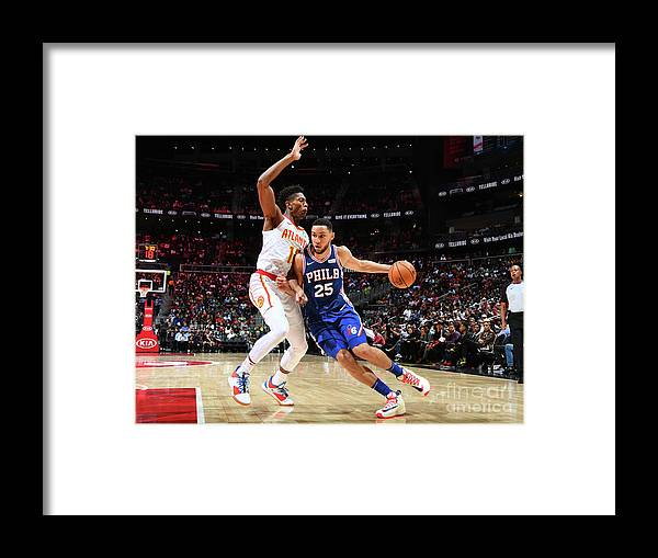 Atlanta Framed Print featuring the photograph Ben Simmons by Scott Cunningham