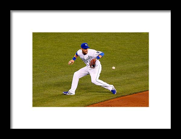 Game Two Framed Print featuring the photograph Ben Zobrist by Kyle Rivas
