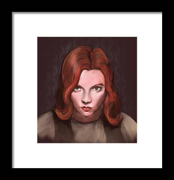 Beth Framed Print featuring the digital art Beth Harmon by Buffalo Bonker