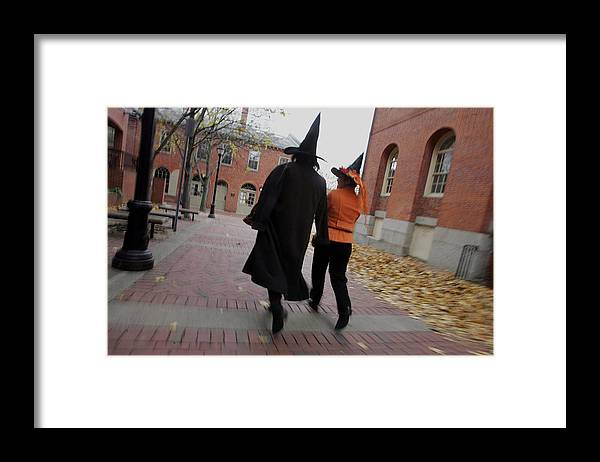 Salem Framed Print featuring the photograph Bewitching Attractions Draw Visitors To Salem by Joe Raedle