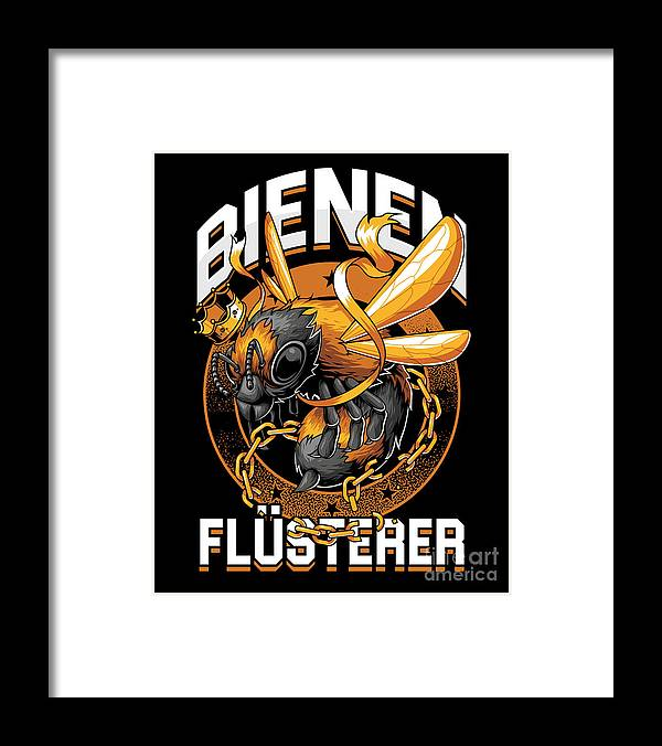 Bee Framed Print featuring the digital art Bienen Flsterer Bee Beekeeper Honeycomb Gift by Thomas Larch