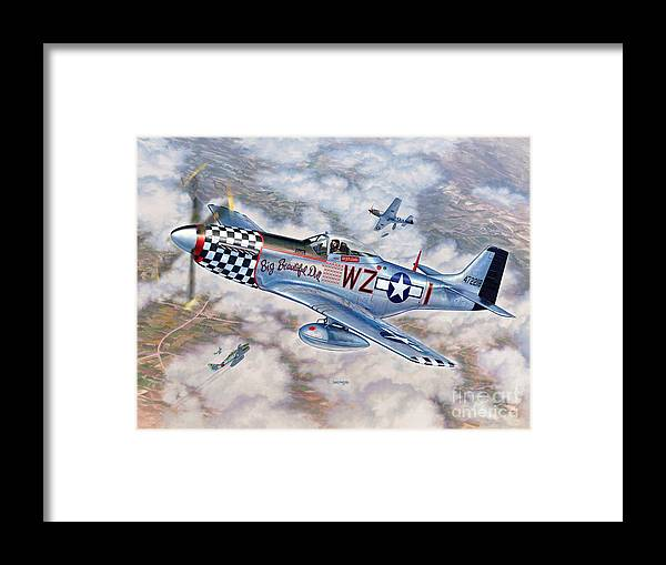 P-51 Mustang Framed Print featuring the painting Big Beautiful Doll by Stu Shepherd